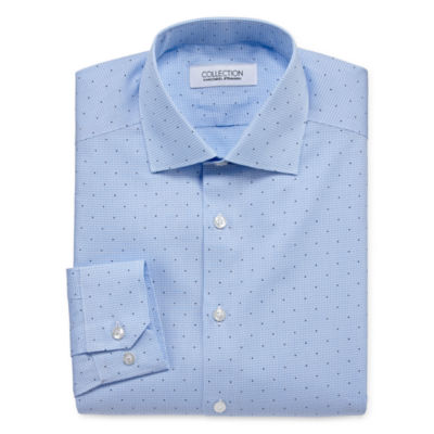 Collection by Michael Strahan Wrinkle Free Cotton Stretch Mens Spread Collar Long Sleeve Dress Shirt - Big and Tall