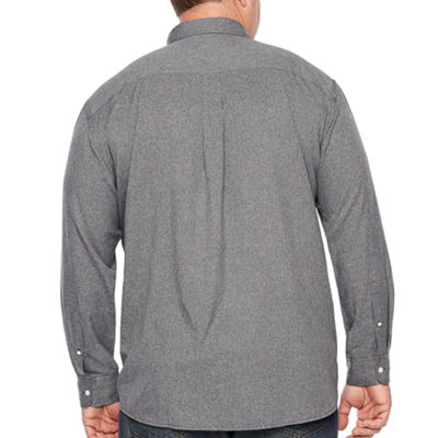 The Foundry Big & Tall Supply Co. Long Sleeve Button-Front Shirt-Big and Tall