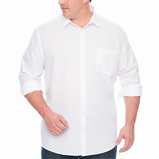 Claiborne Big and Tall Mens Long Sleeve Button-Down Shirt