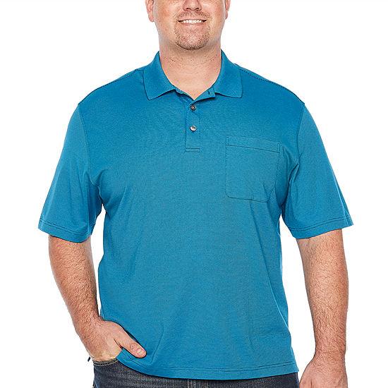48c98abc3 Van Heusen Jacquard Stripe Short Sleeve Polo Shirt Big and Tall JCPenney