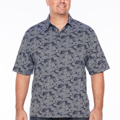 Van Heusen Air Printed Polo Short Sleeve Leaf Knit Polo Shirt Big and Tall