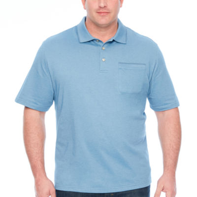 Van Heusen Flex Solid Tipped Polo Short Sleeve Knit Polo Shirt Big and Tall