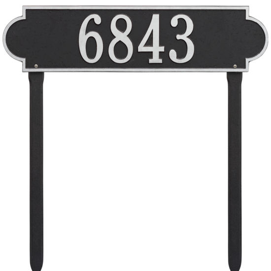 Whitehall Personalized Richmond Estate Lawn Address Plaque - 1 Line