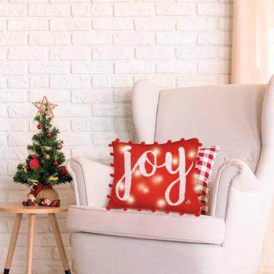 Joy Light Up Toss Pillow