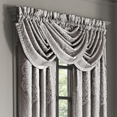Queen Street Lambert Rod-Pocket Waterfall Valance