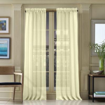 Queen Street Warren Rod-Pocket Sheer Curtain Panel