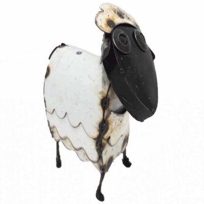 Rustic Arrow Sheep Mini Figurine