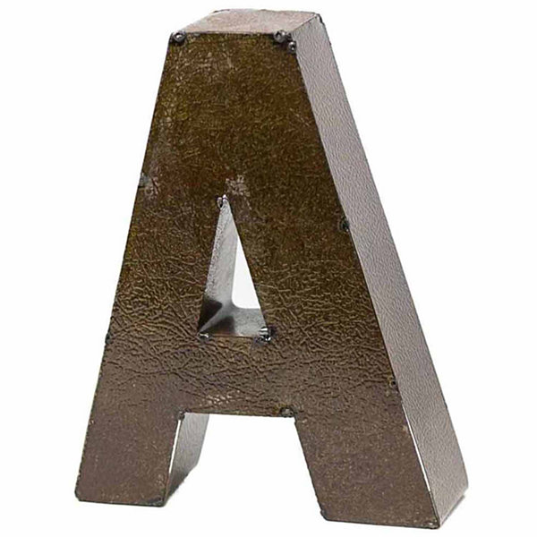 "Rustic Arrow Letter A 9"" Wall Art"