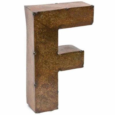 "Rustic Arrow Letter F 9"" Wall Art"
