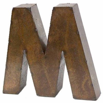 """Rustic Arrow Letter M 9"""" Wall Art"""