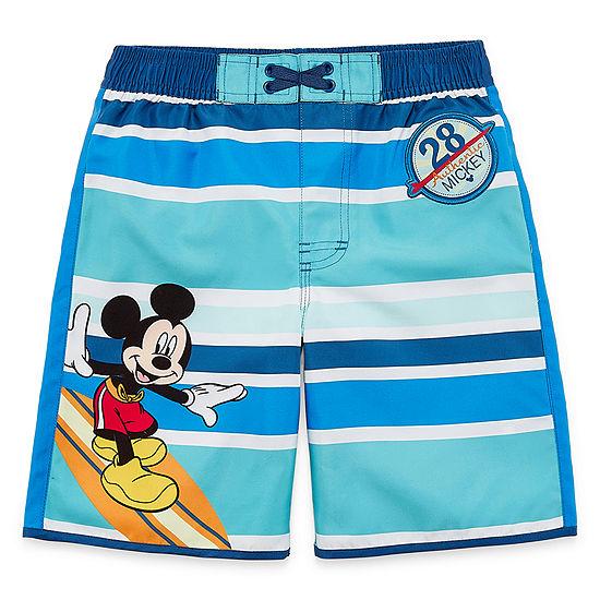 Disney Collection Boys Mickey Mouse Swim Shorts Preschool / Big Kid