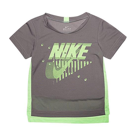 Nike Boys V Neck Short Sleeve Graphic T-Shirt-Toddler
