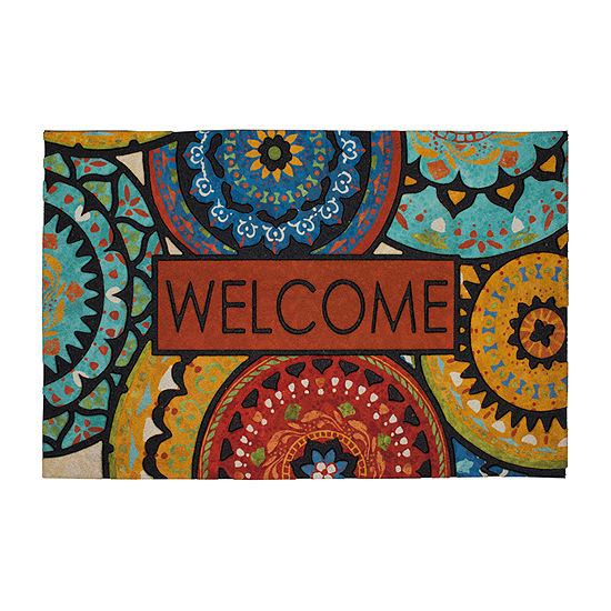Mohawk Home Suzani Rectangular Outdoor Doormat