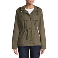 St. John's Bay Twill Hooded Midweight Anorak
