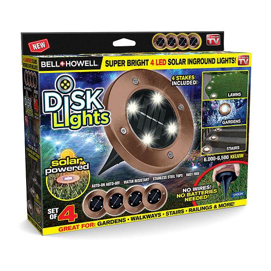 As Seen On TV Bell & Howell Disk Lights Outdoor Solar Garden Lights-Bronze