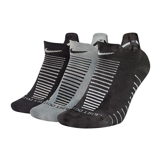 Nike Dry Cushion Gfx 3 Pair No Show Socks Womens