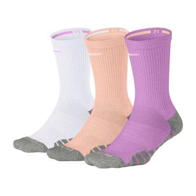 Nike Dry Cush Crew 3 Pair Crew Socks - Womens