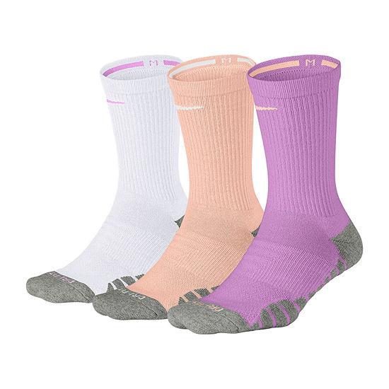 Nike Dry Cushion 3 Pair Crew Socks - Womens