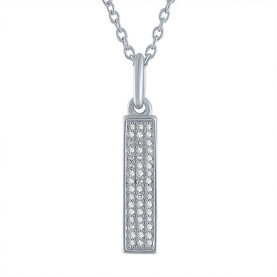 """Difficult Roads"" Womens Diamond Accent Genuine White Diamond Sterling Silver Pendant Necklace"