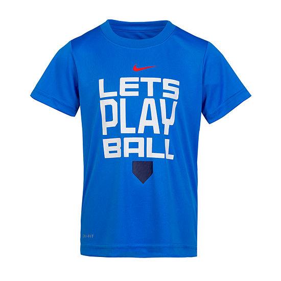 Nike Crew Neck Short Sleeve Dri-Fit Graphic T-Shirt-Preschool Boys