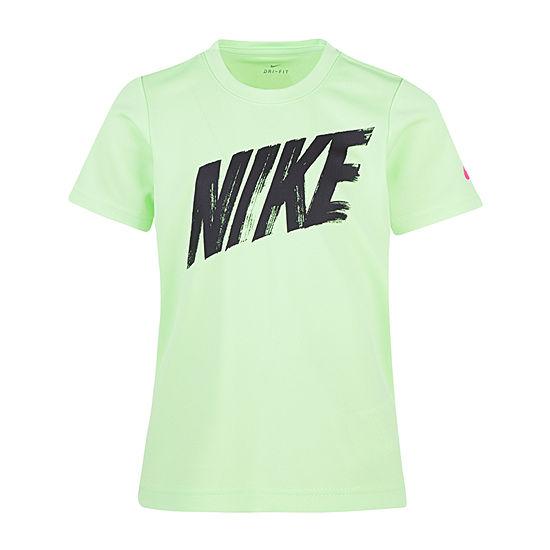 Nike Boys Round Neck Short Sleeve Dri-Fit Graphic T-Shirt Preschool
