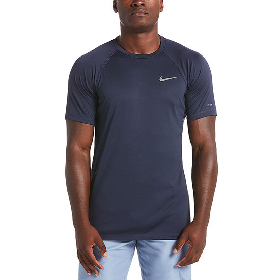 Nike Solid Short Sleeve Hydroguard Crew Neck T-Shirt