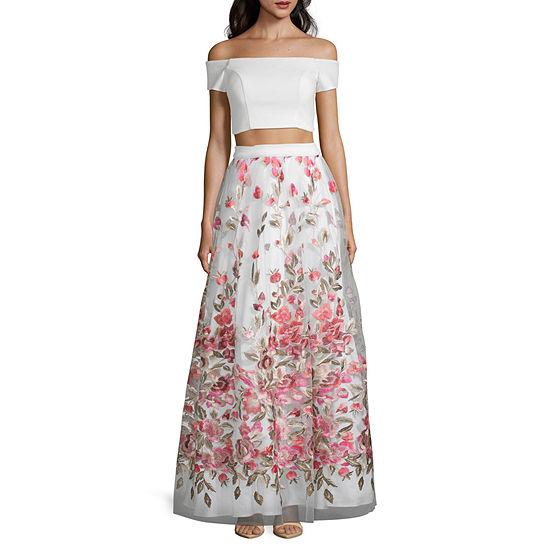 Trixxi Short Sleeve Dress Set-Juniors