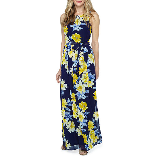 ee047ef5028d Jessica Howard Sleeveless Floral Maxi Dress - JCPenney
