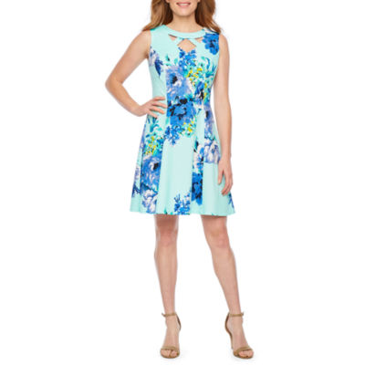 Alyx Sleeveless Floral Fit & Flare Dress