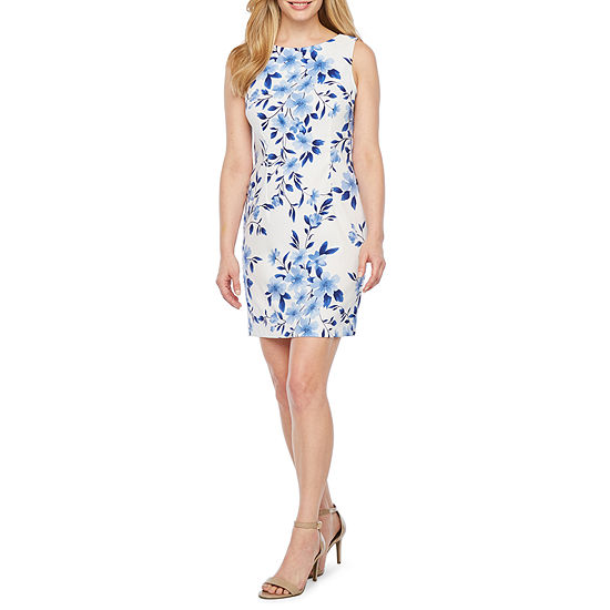 Alyx Sleeveless Floral Sheath Dress-Petite