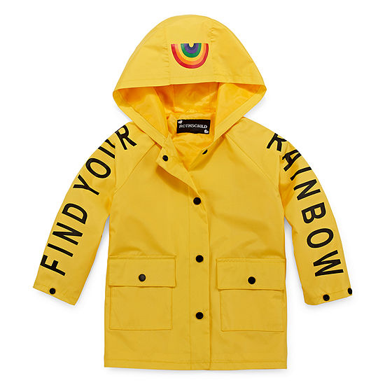 S Rothschild Girls Hooded Lightweight Raincoat Toddler