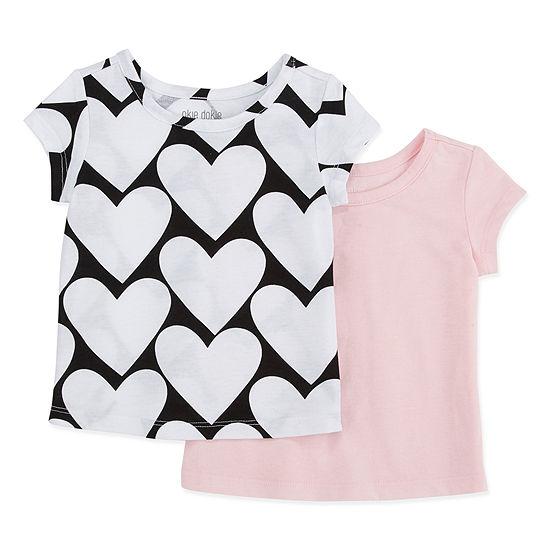 Okie Dokie Girls Round Neck Short Sleeve T-Shirt