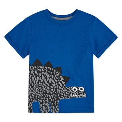Okie Dokie Boys Crew Neck Short Sleeve Graphic T-Shirt-Toddler
