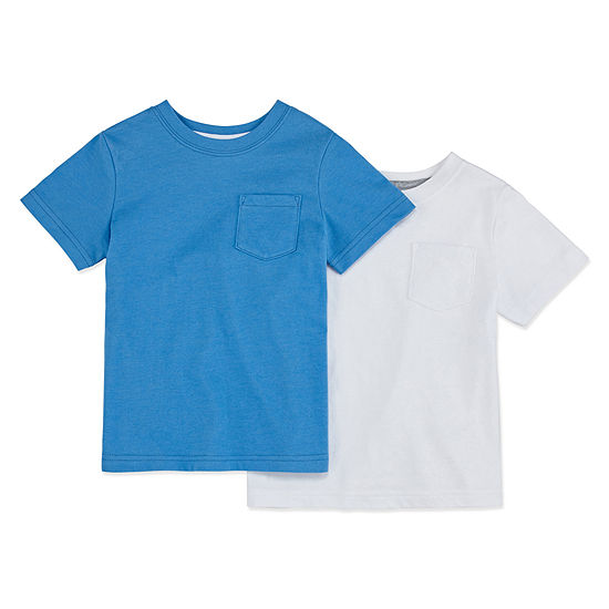 Okie Dokie 2-pc. Boys Crew Neck Short Sleeve T-Shirt-Toddler