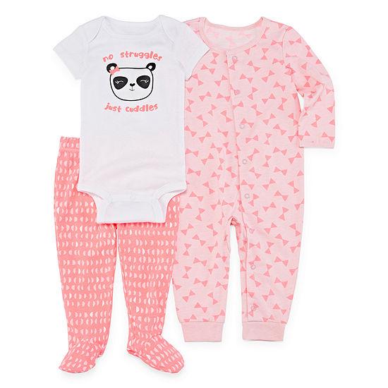 Okie Dokie Girls 3-pc. Bodysuit Set-Baby
