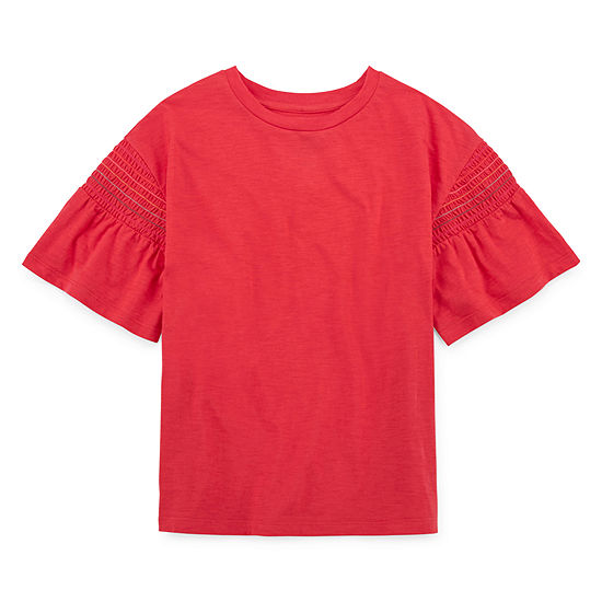 Arizona Smocked Sleeve Top - Girls' 4-16 & Plus