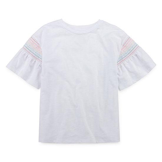 Arizona Smocked Sleeve Top - Girls' 4-16 & Plus