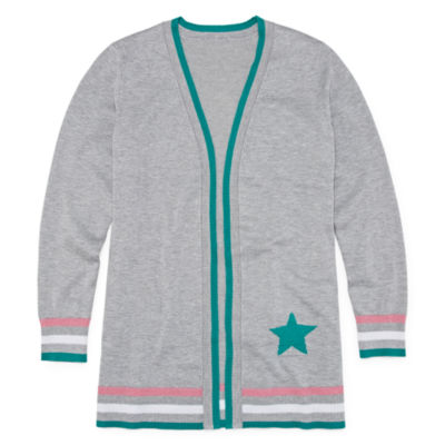 Arizona Girls Long Sleeve Open Front Cardigan Preschool / Big Kid