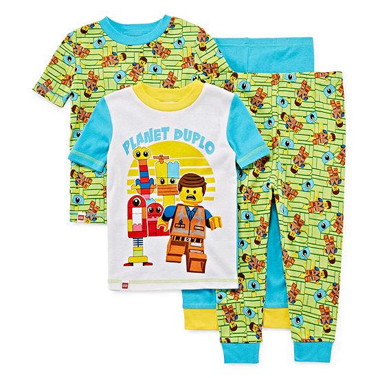 Lego Movie 2 4 Pc Pajama Set Boys