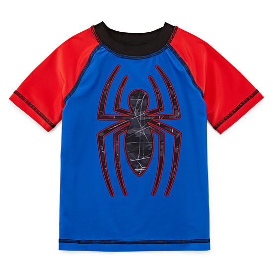 Boys Spiderman Factor 50+ Rash Guard- Toddler
