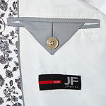 JF J.Ferrar Black and White Rose Slim Fit Sport Coat