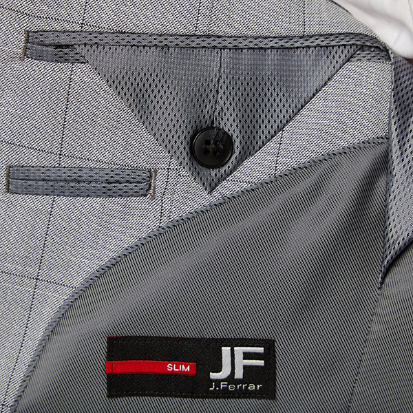 JF J.Ferrar Windowpane Slim Fit Stretch Suit Jacket