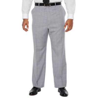 JF J.Ferrar Windowpane Classic Fit Stretch Suit Pants - Big and Tall