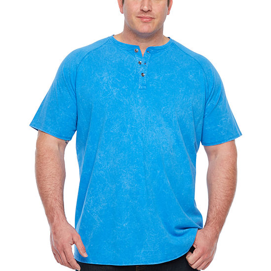 The Foundry Supply Co. Mens Short Sleeve Henley Shirt-Big and Tall