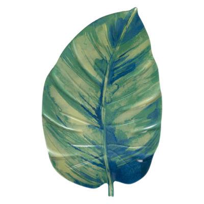 Outdoor Oasis Palm Leaf Melamine Serving Tray