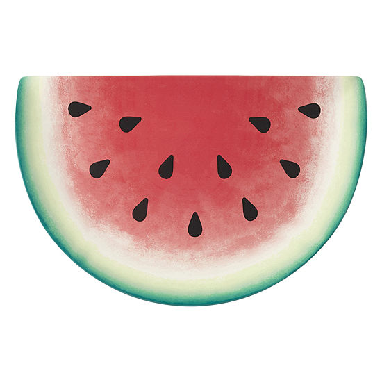Outdoor Oasis Watermelon Melamine Serving Tray