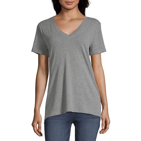 a.n.a Womens V Neck Short Sleeve T-Shirt