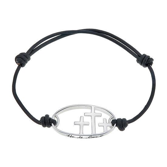 Footnotes Silver Tone Bolo Bracelet