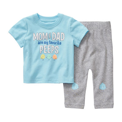 Okie Dokie Peeps Baby Boys 2-pc. Pant Set