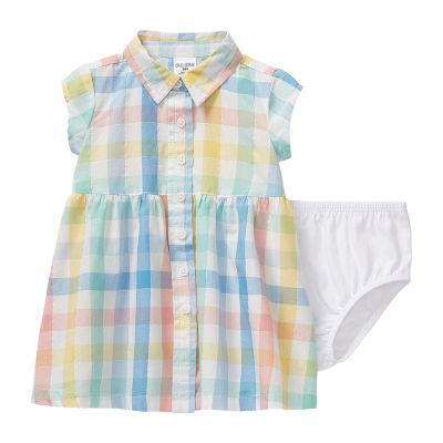 Okie Dokie - Baby Girls Short Sleeve A-Line Dress